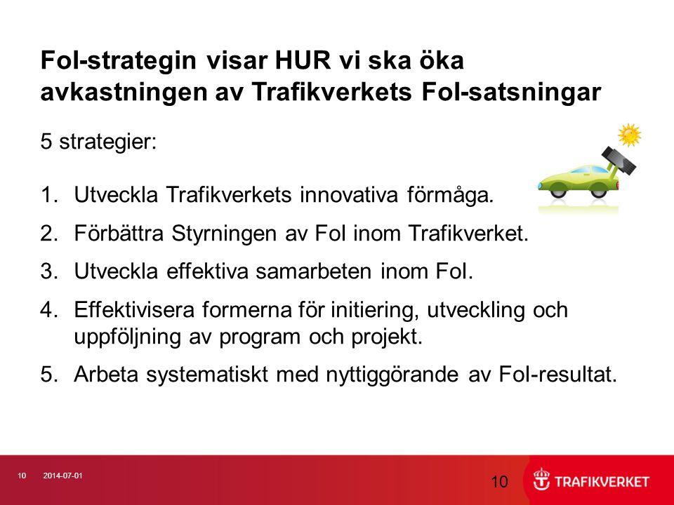 FoI-strategin visar HUR vi ska öka avkastningen av Trafikverkets FoI-satsningar