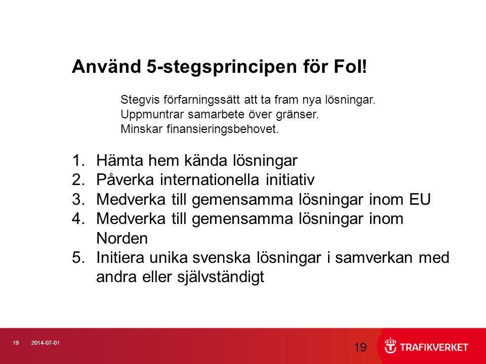 Använd 5-stegsprincipen för FoI!
