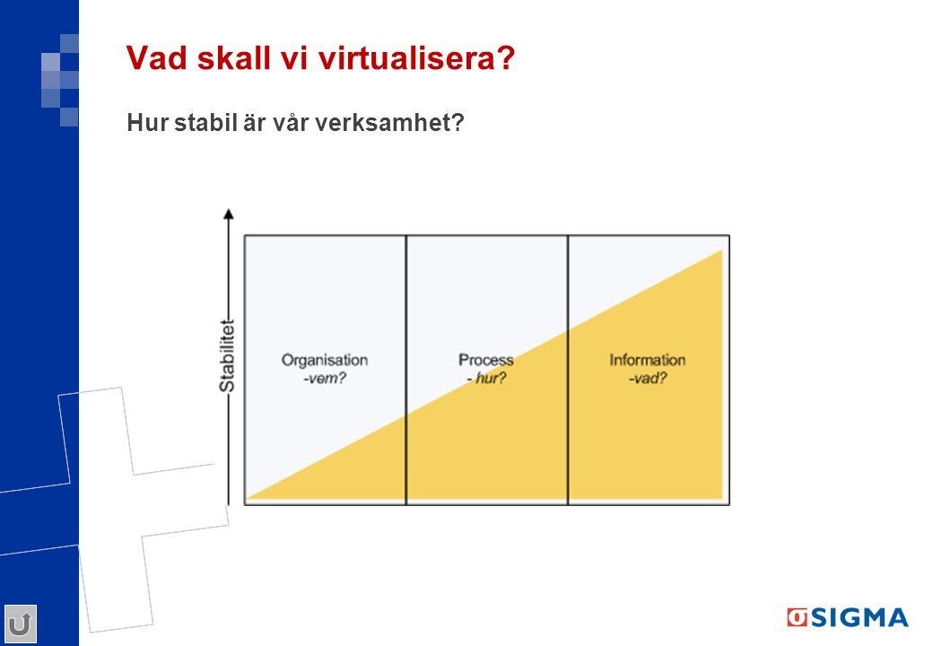 Vad skall vi virtualisera