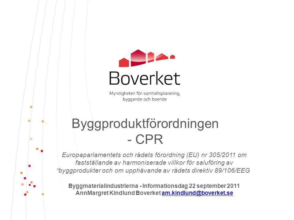 Byggproduktförordningen - CPR