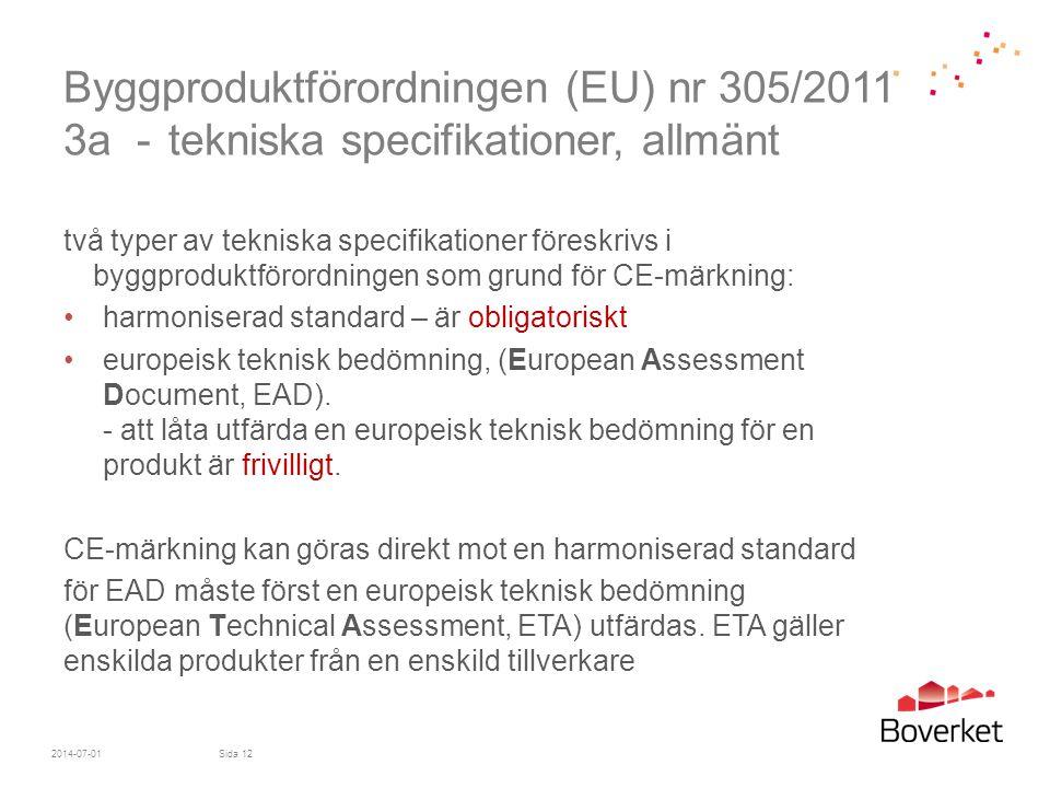 Byggproduktförordningen (EU) nr 305/2011 3a -