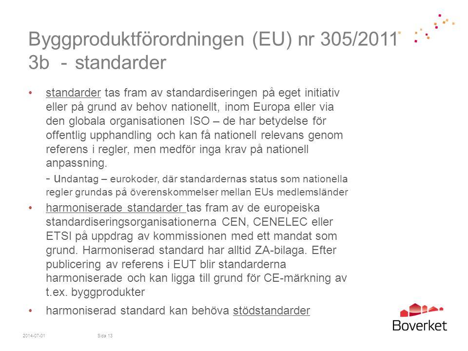 Byggproduktförordningen (EU) nr 305/2011 3b - standarder