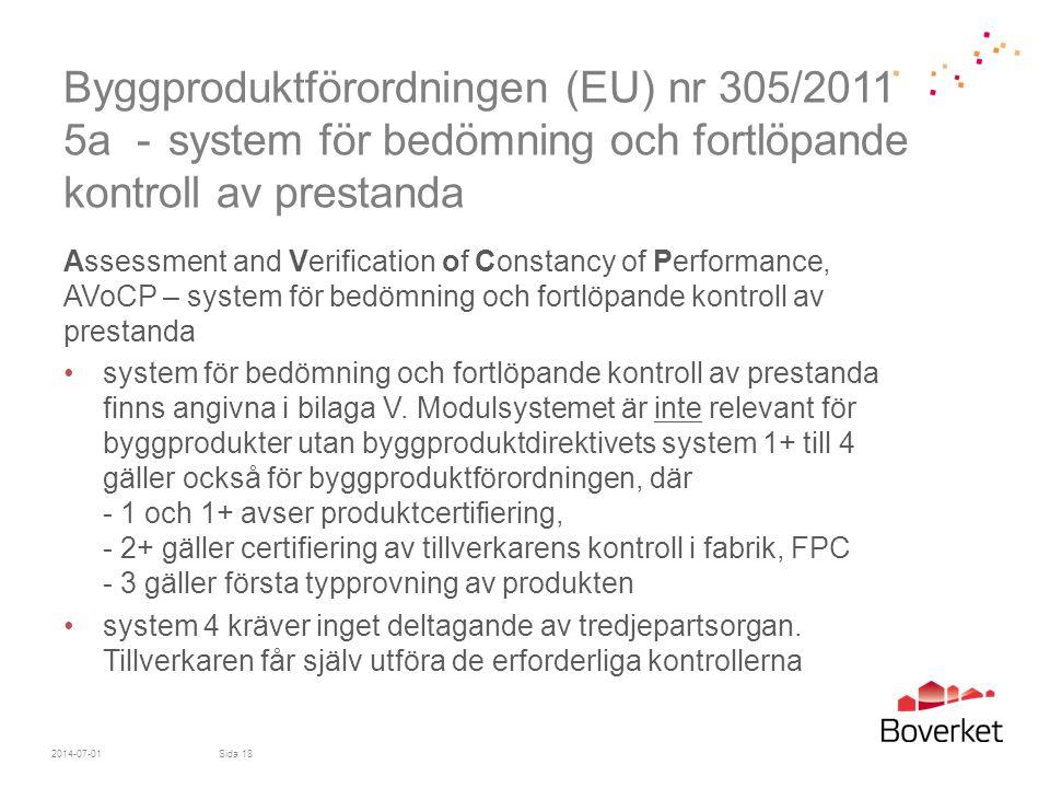 Byggproduktförordningen (EU) nr 305/2011 5a -