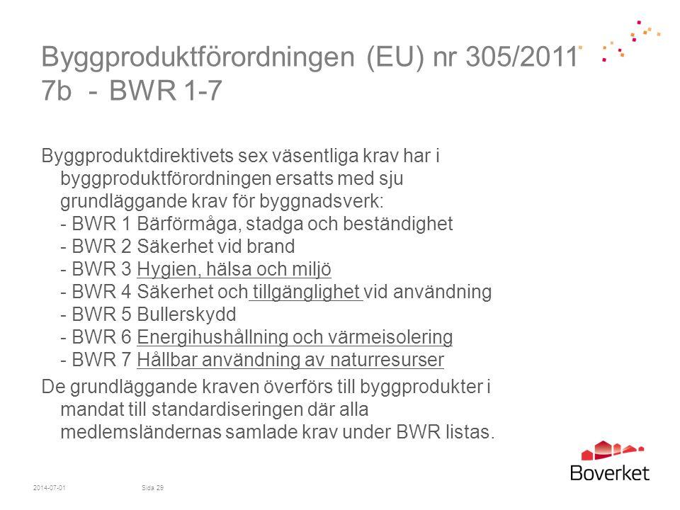 Byggproduktförordningen (EU) nr 305/2011 7b - BWR 1-7