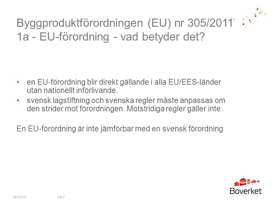 Byggproduktförordningen (EU) nr 305/2011 1a - EU-förordning - vad betyder det