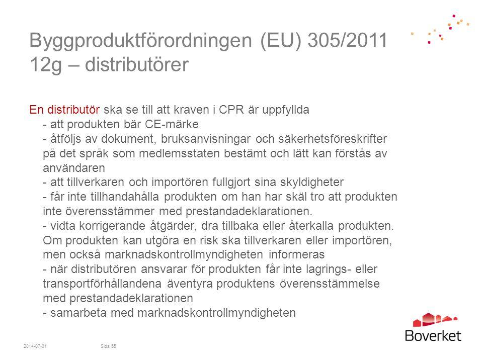 Byggproduktförordningen (EU) 305/2011 12g – distributörer