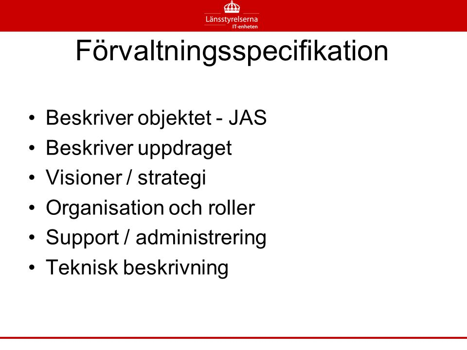 Förvaltningsspecifikation