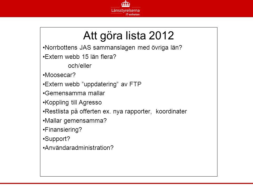 Att göra lista 2012 Norrbottens JAS sammanslagen med övriga län