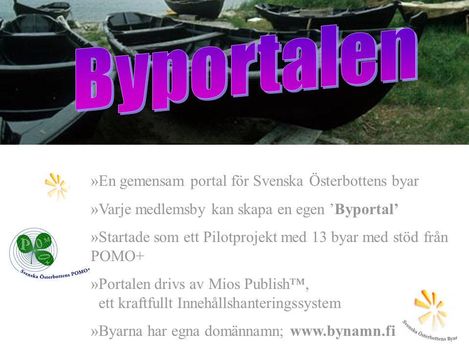 Byportalen En gemensam portal för Svenska Österbottens byar