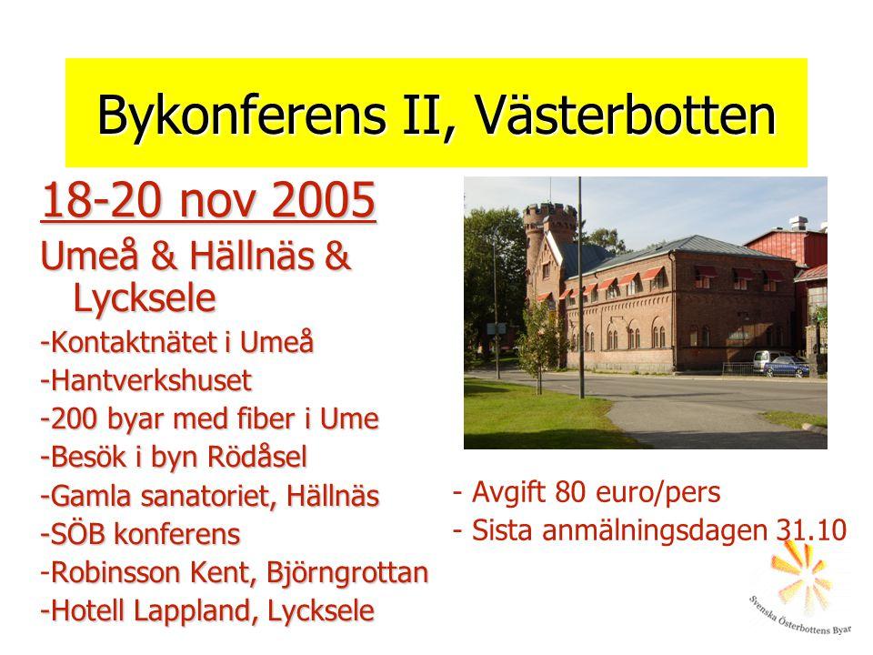 Bykonferens II, Västerbotten