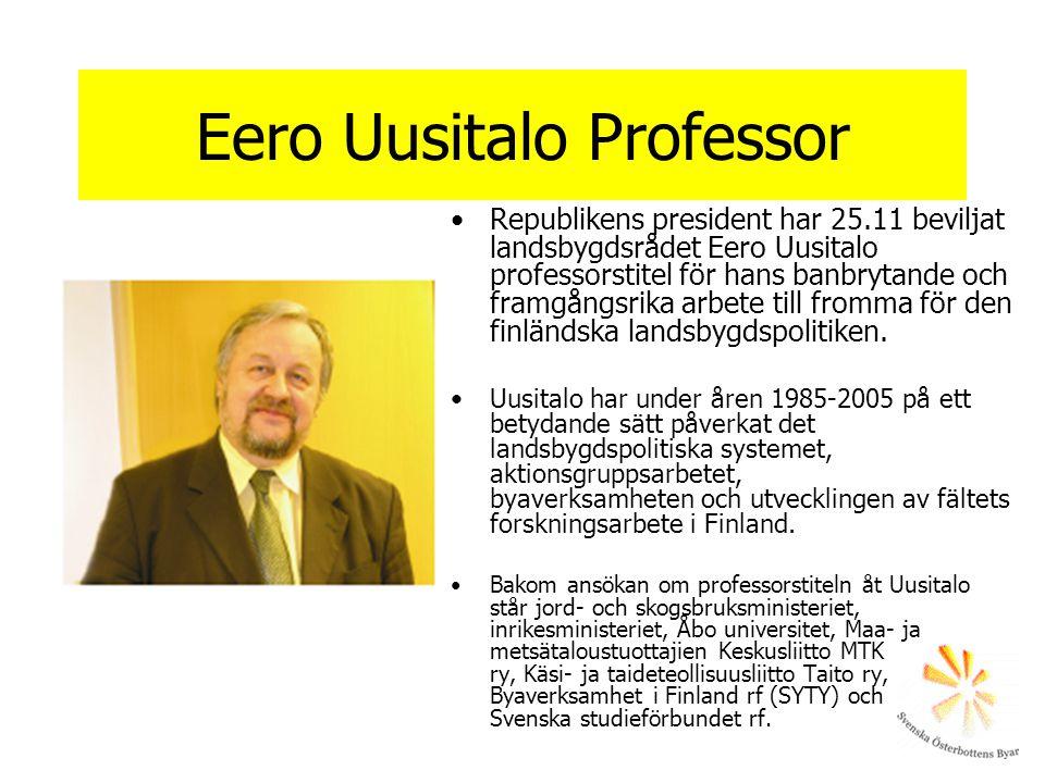 Eero Uusitalo Professor