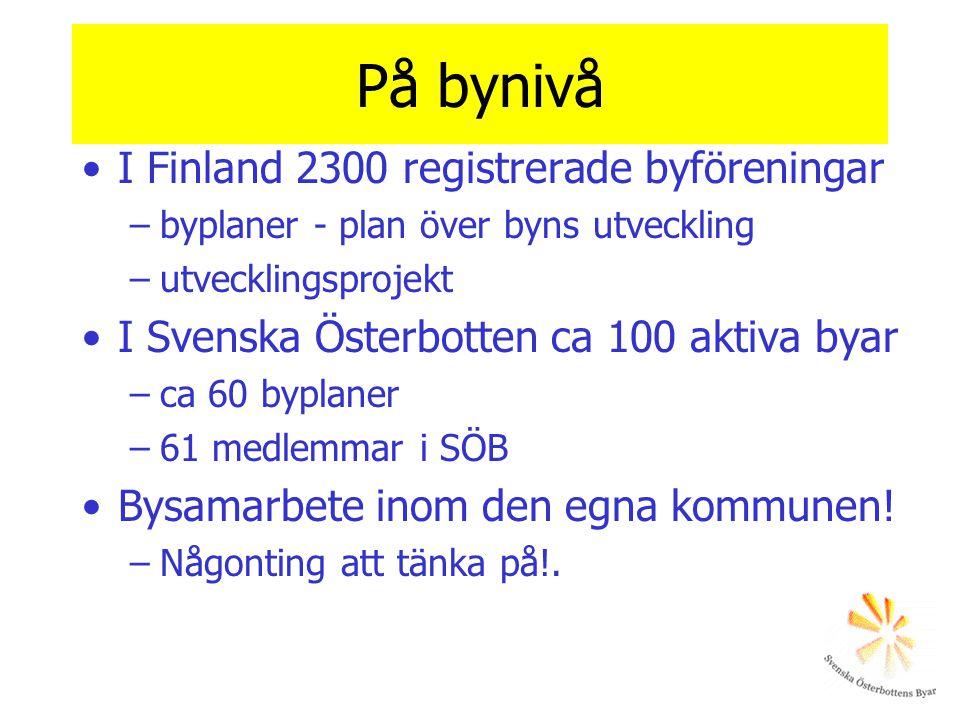På bynivå I Finland 2300 registrerade byföreningar