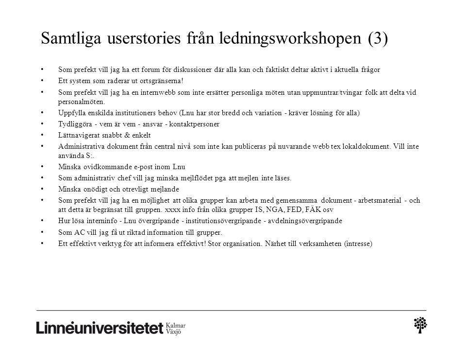 Samtliga userstories från ledningsworkshopen (3)