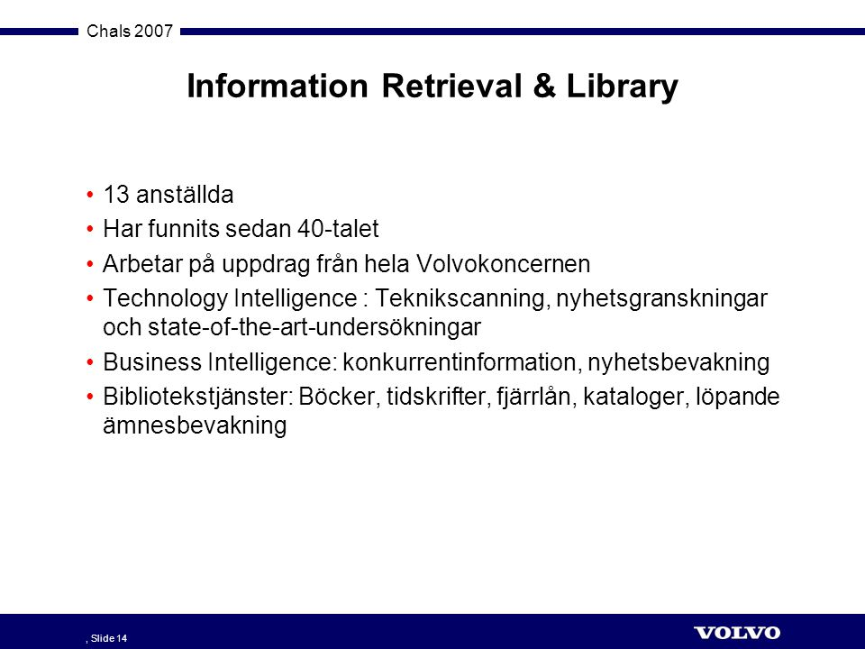 Information Retrieval & Library