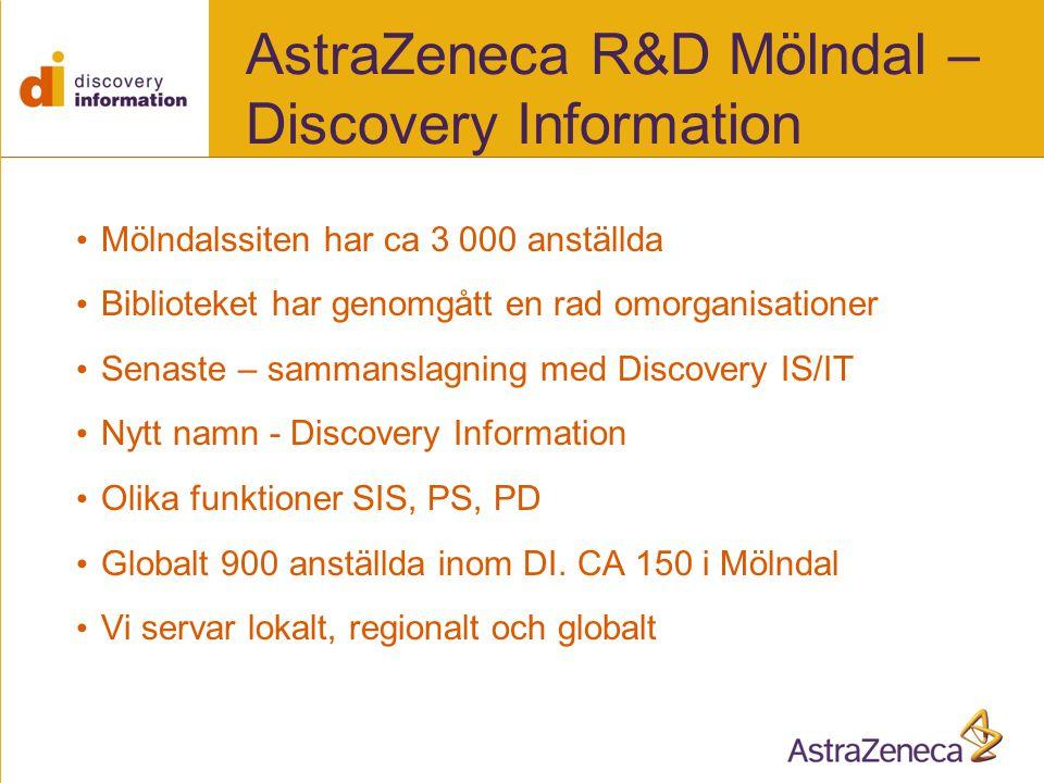 AstraZeneca R&D Mölndal – Discovery Information