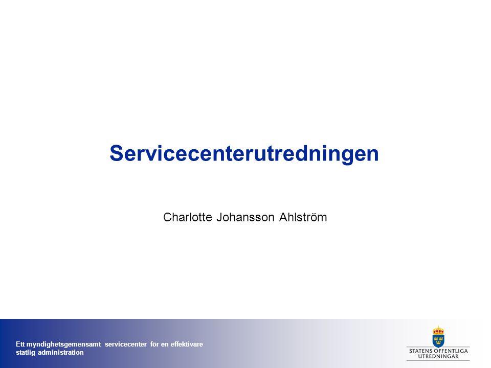 Servicecenterutredningen