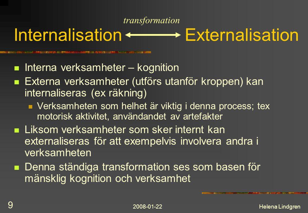 Internalisation Externalisation