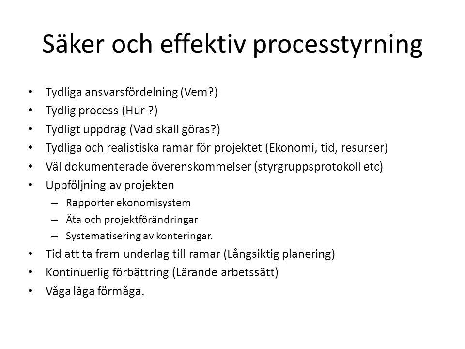 Säker och effektiv processtyrning