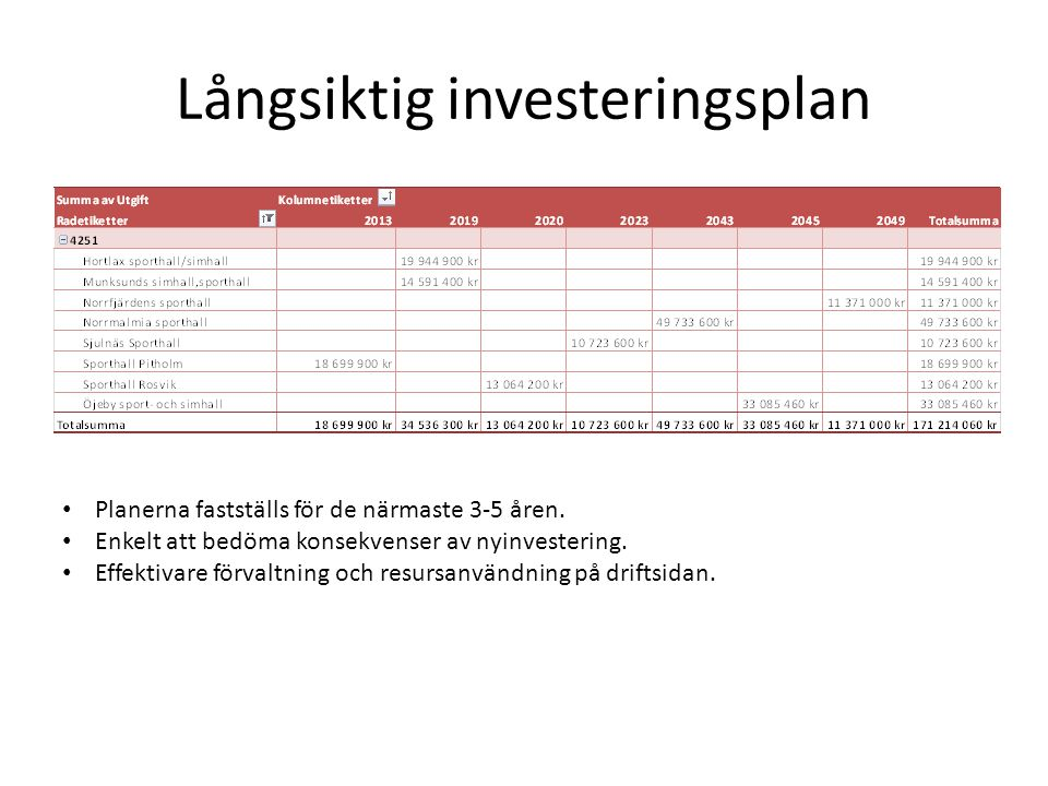 Långsiktig investeringsplan