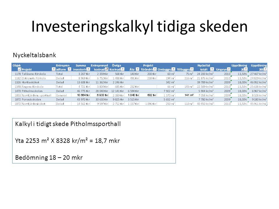 Investeringskalkyl tidiga skeden