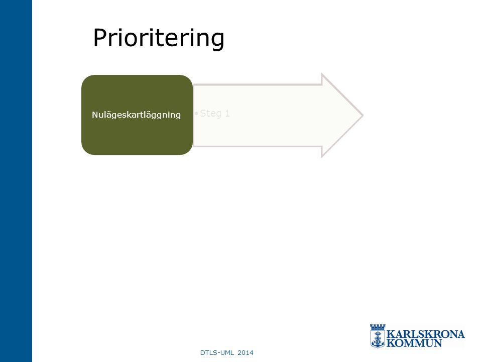 Prioritering Steg 1 Nulägeskartläggning DTLS-UML 2014