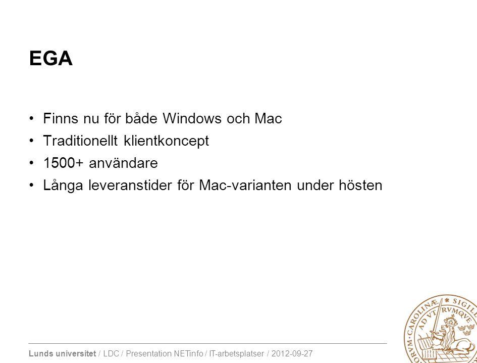 EGA Finns nu för både Windows och Mac Traditionellt klientkoncept