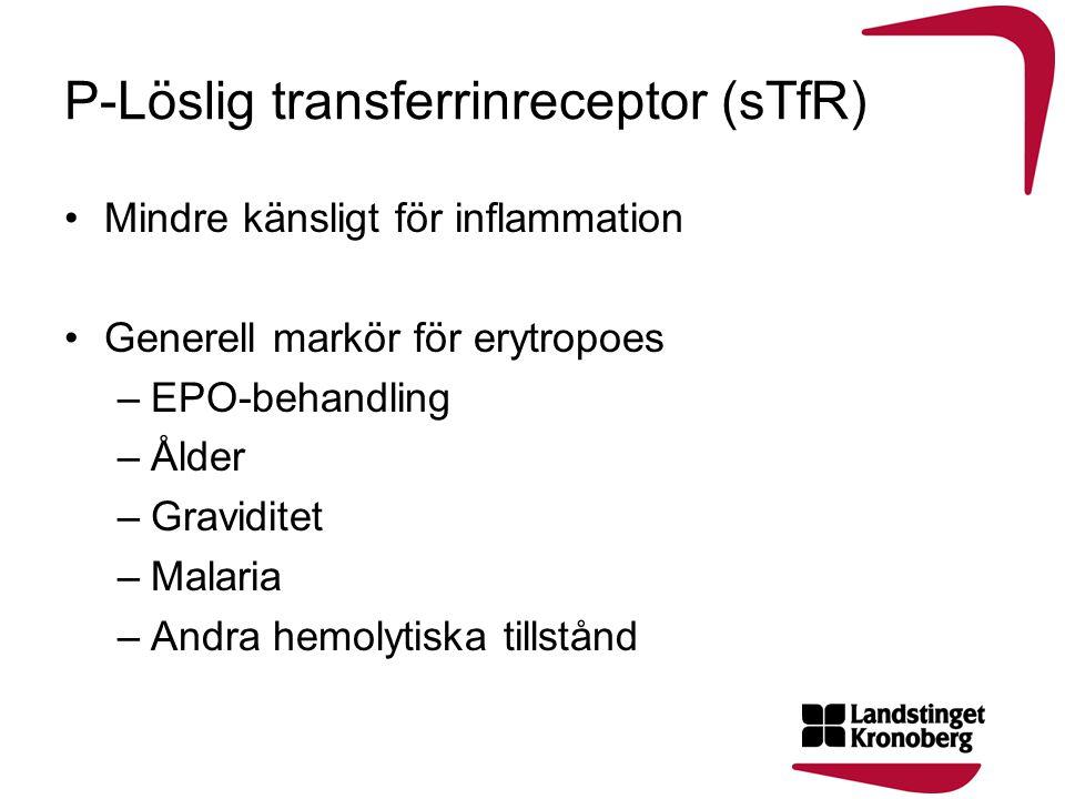 P-Löslig transferrinreceptor (sTfR)
