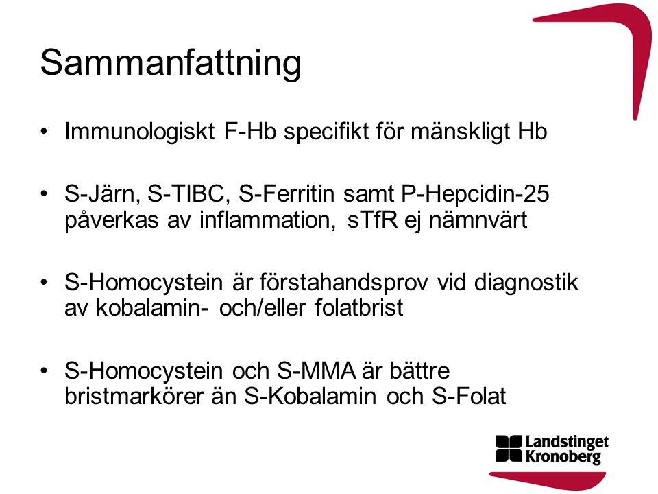 Sammanfattning Immunologiskt F-Hb specifikt för mänskligt Hb