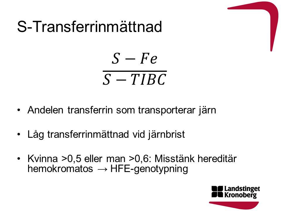 S-Transferrinmättnad