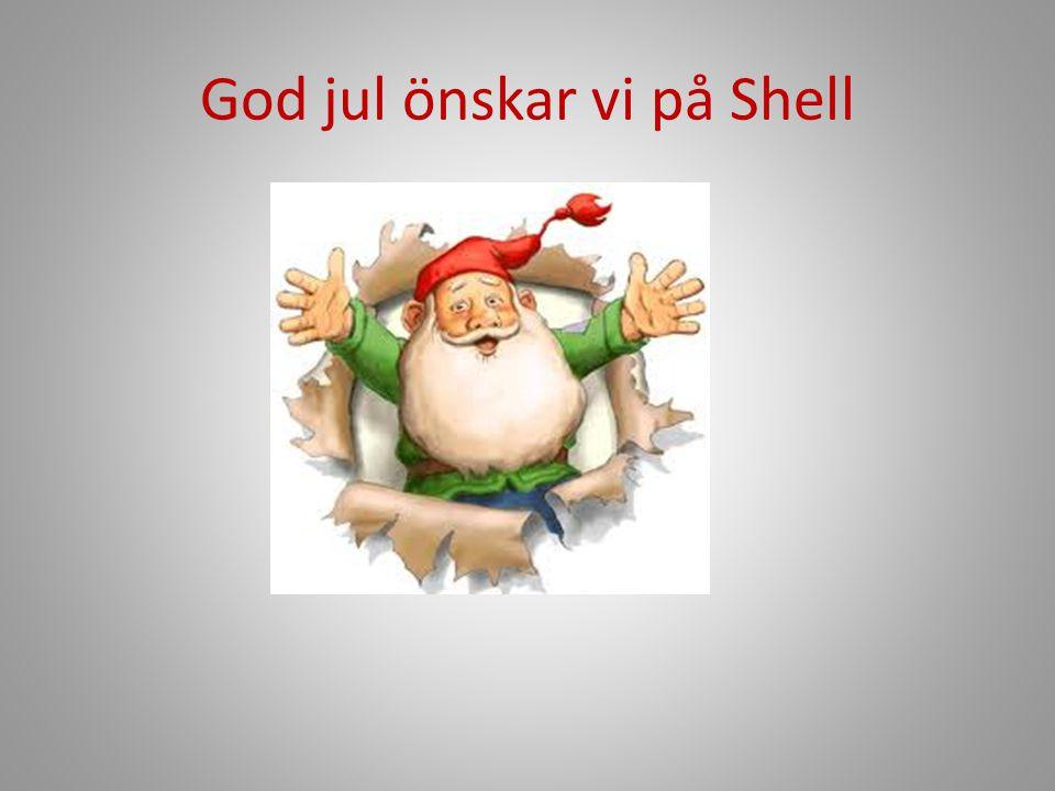 God jul önskar vi på Shell