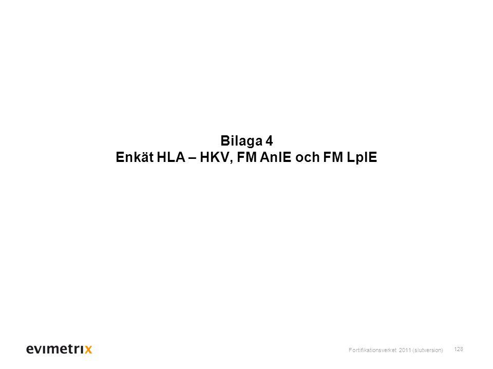 Bilaga 4 Enkät HLA – HKV, FM AnlE och FM LplE
