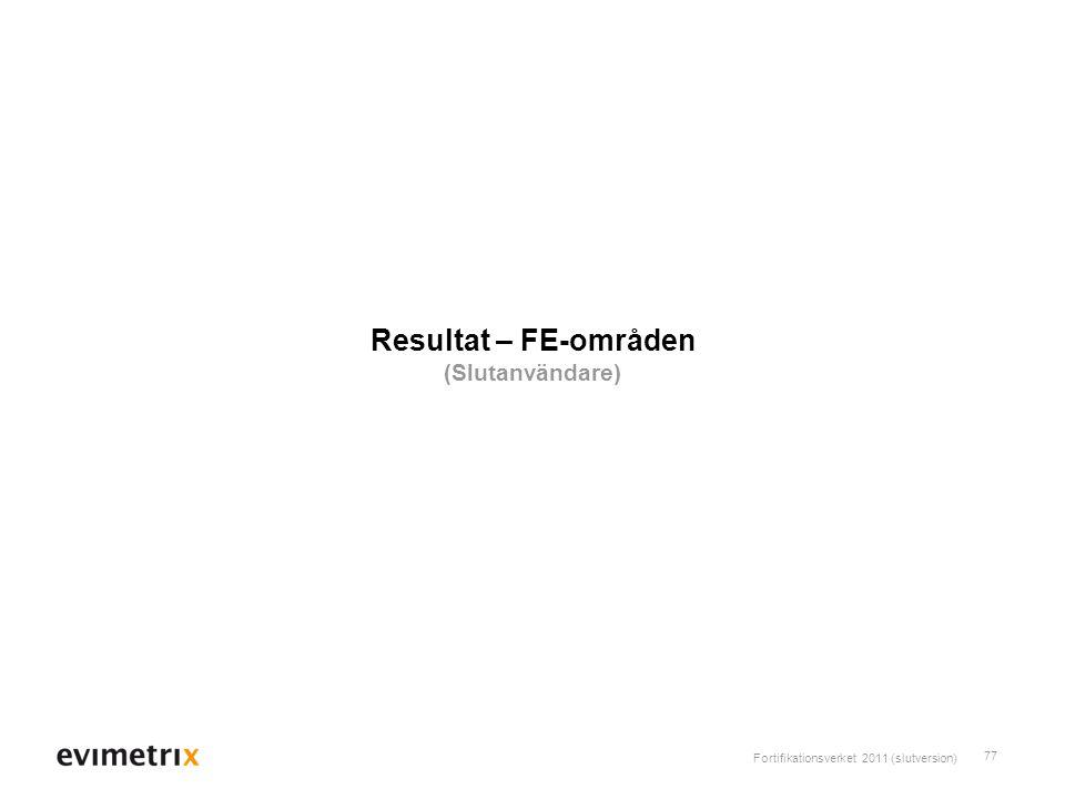Resultat – FE-områden (Slutanvändare)
