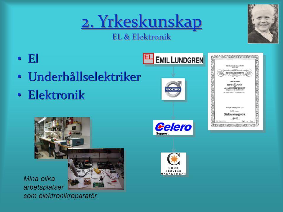 2. Yrkeskunskap EL & Elektronik