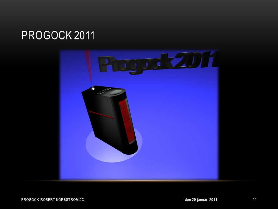 Progock 2011 Progock-Robert Korsström 9c den 29 januari 2011