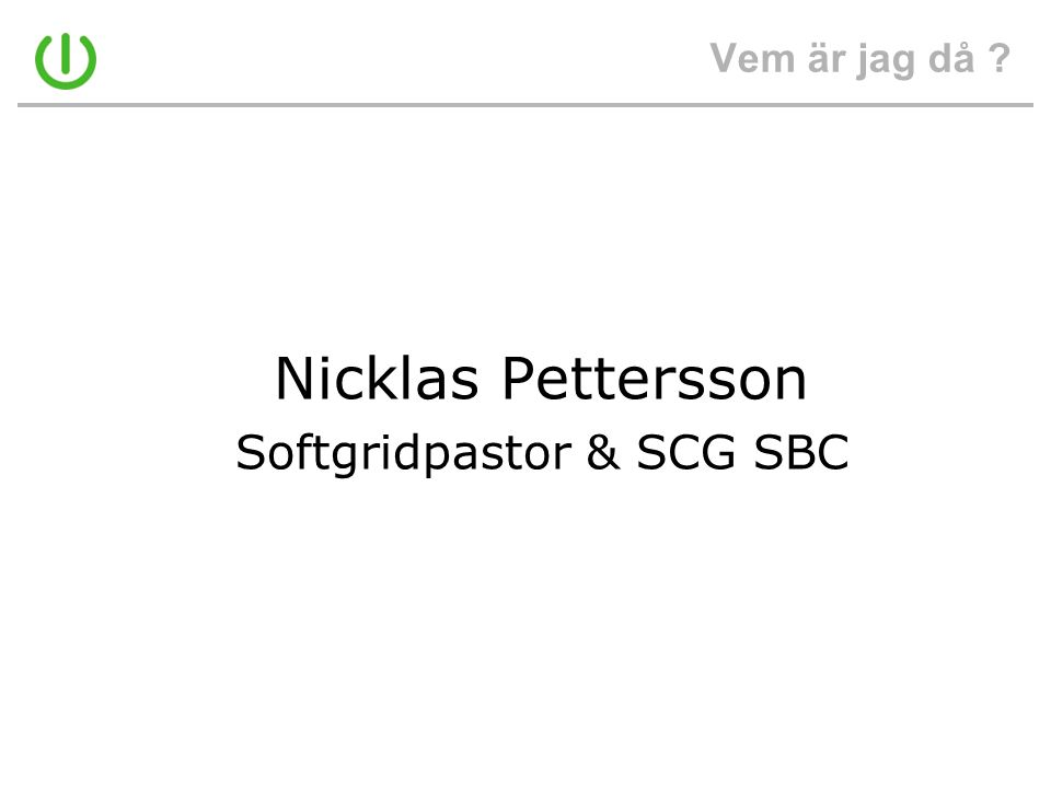 Softgridpastor & SCG SBC