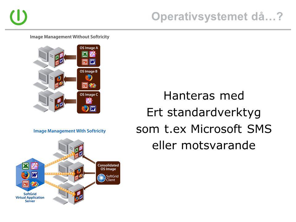 Operativsystemet då… Hanteras med Ert standardverktyg som t.ex Microsoft SMS eller motsvarande