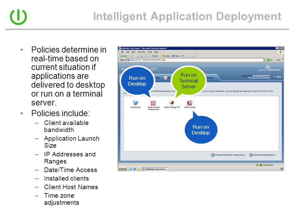 Intelligent Application Deployment