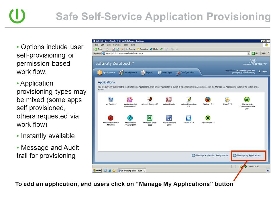 Safe Self-Service Application Provisioning