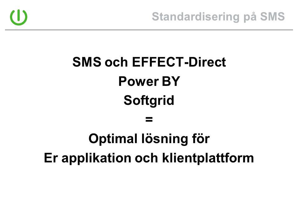 Standardisering på SMS