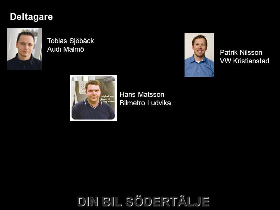 Deltagare Tobias Sjöbäck Audi Malmö Patrik Nilsson VW Kristianstad
