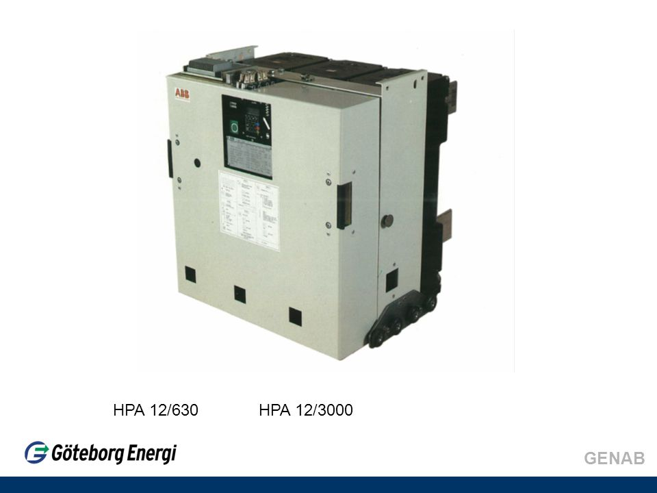 HPA 12/630 HPA 12/3000 GENAB
