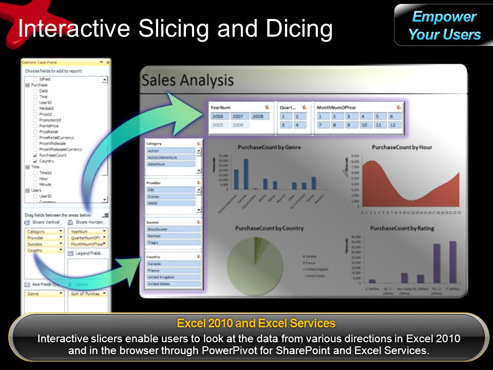 Interactive Slicing and Dicing