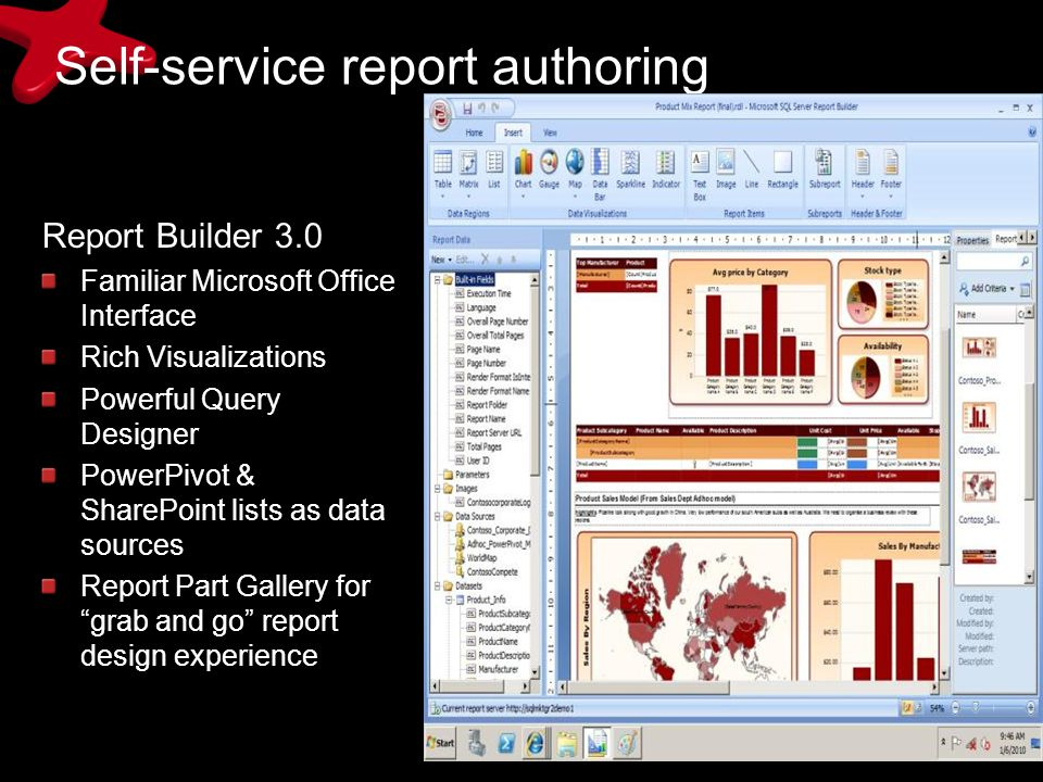 Self-service report authoring