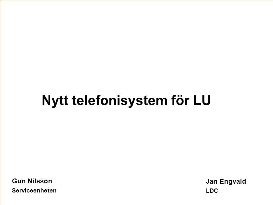Nytt telefonisystem för LU