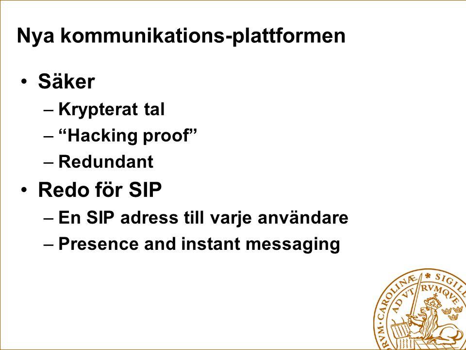 Nya kommunikations-plattformen