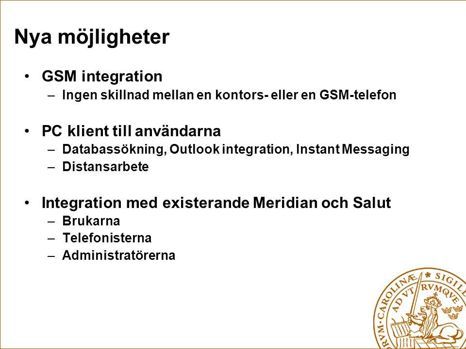 Nya möjligheter GSM integration PC klient till användarna