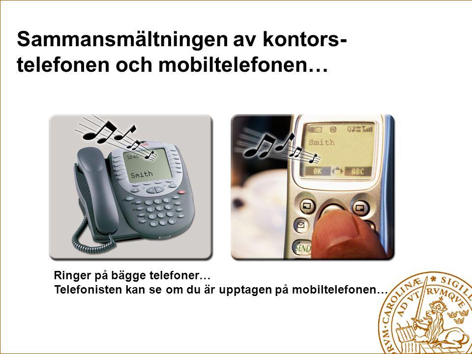 Sammansmältningen av kontors- telefonen och mobiltelefonen…