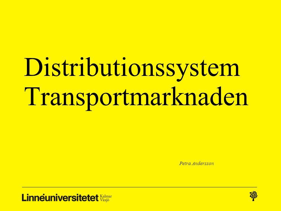 Distributionssystem Transportmarknaden
