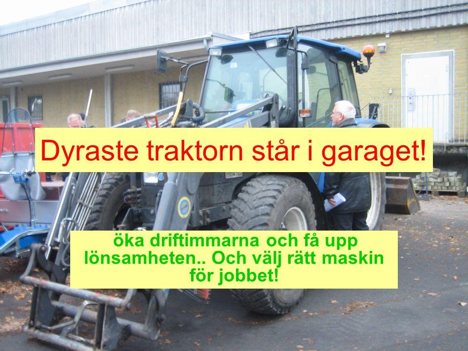 Dyraste traktorn står i garaget!