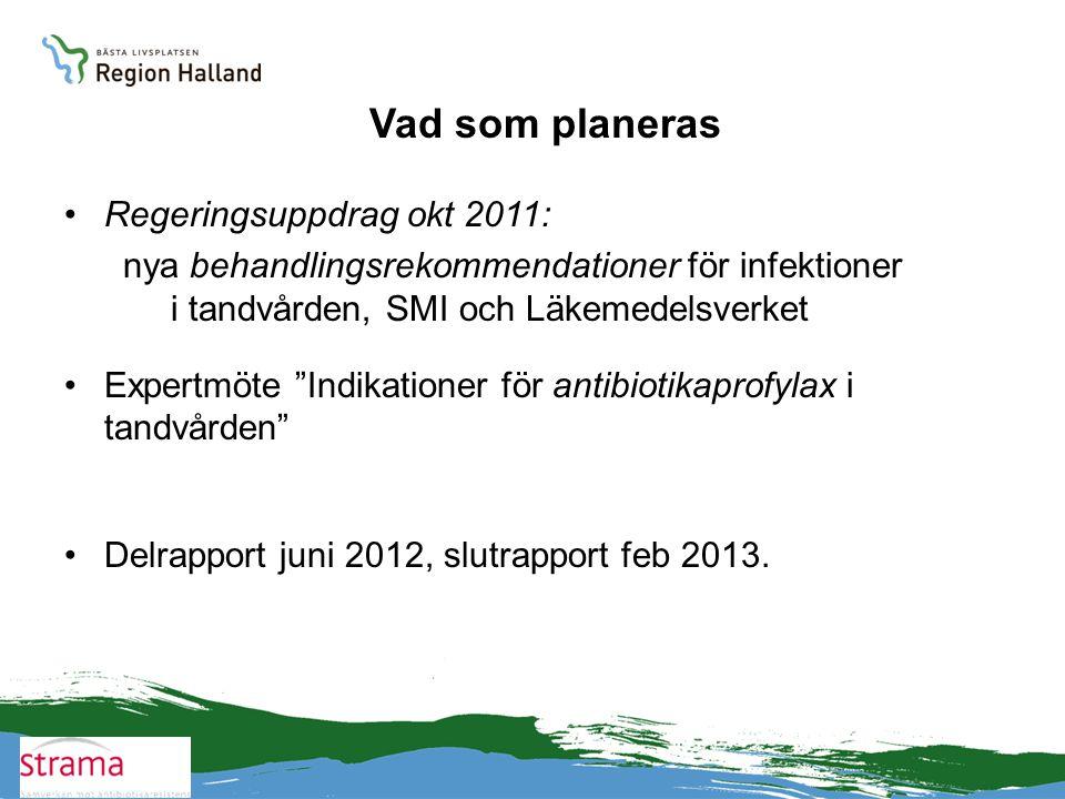Vad som planeras Regeringsuppdrag okt 2011: